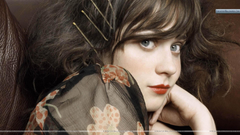 Zooey Deschanel Red Lips Face Closeup Wallpapers