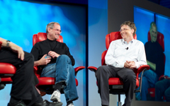 Steve Jobs and Bill Gates Wallpapers