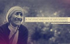 Mother Teresa Expression of God s Kindness Desktop Wallpapers
