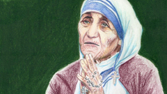 x768 Artwork Yoshiko Mishima Drawing Religion Caring