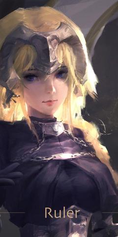 Ruler Jeanne d arc fate stay night art 1440x2880 wallpapers