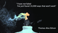 Thomas Alva Edison quote about failure