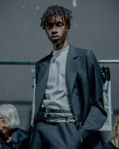 Abdulaye Niang by Yann Morrison Backstage lanvinofficial for