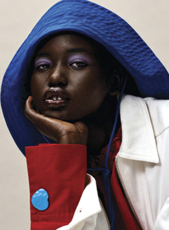 Adut Akech in Vogue USA January 2019 by Josh Olins