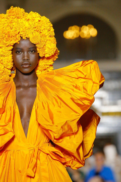 Adut Akech at Valentino fall winter 2018 couture