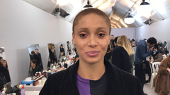 Backstage Hair and Makeup Video at Dior With Adwoa Aboah Peter