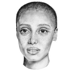 Finally finished pencil portrait of Adwoa Aboah