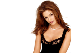 Cindy crawford wearing pearls necklace hD wallpapers