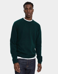 Norse Projects Sigfred Lambswool Sweater in Quartz Green