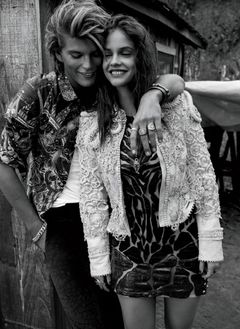 Top models Jordan Barrett and Barbara Palvin team up for the cover