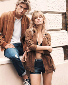 Walk This Way Jordan Barrett Reunites with Pepe Jeans for Spring