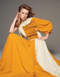 Rianne van Rompaey poses for Vogue Paris March 2019