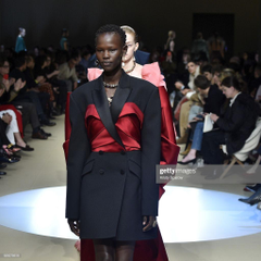 Shanelle Nyasiase walks the runway during the fianle of the