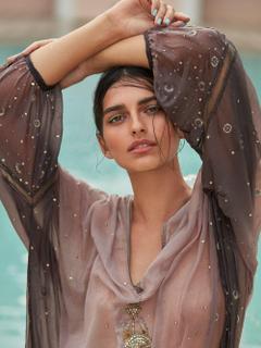 Saffron Vadher Radhika Nair lensed by Greg Swales for Vogue India