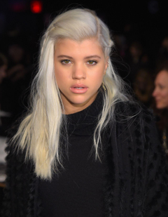 Sofia Richie attends the DKNY fashion show during Mercedes