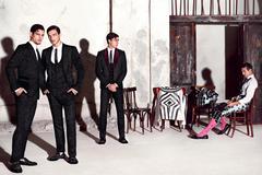 Travis Cannata Xavier Serrano Misa Patinszki for Dolce Gabbana SS15
