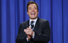 Jimmy Fallon laughing clapping