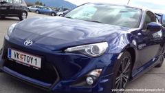 Toyota GT86 blue with Aero Kit