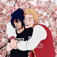 pfp requests are open on Instagram various bnha ships with cherry blossom backgrounds for bnha ships are equal artis cr miri