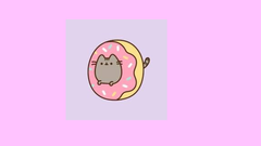 Pusheen Stuck In Donut