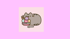 Pusheen Eating Icecream