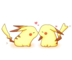 Pikachu x girl pikachu kissed