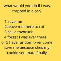 what would you do if i was trapped in a car