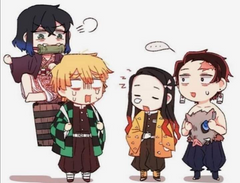 never doing that again give me my cloths back fast nezuko