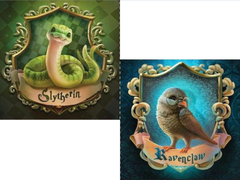 Cute Slytherin and Ravenclaw symbols