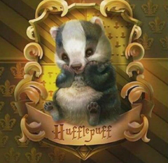Cute Hufflepuff badger