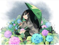 cutie in the rain