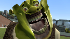 Shrek has a tooth decay