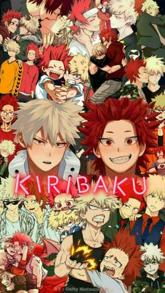 Kiribaku Kirishima x Bakugou Bakushima Kiribaku collage