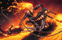 Wallpapers fire skull chain motorcycle fire sake Ghost