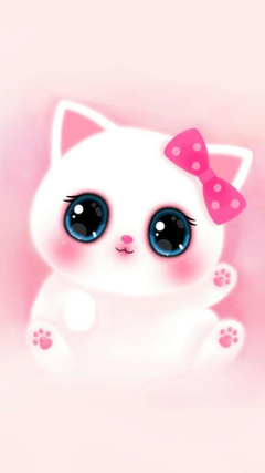 Pink Cute Girly Cat Melody Iphone Wallpapers