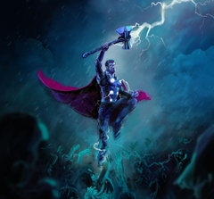Downaload thor thunder storm artwork wallpaper 1920x1786