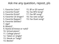 Repost from Keenan ask and I will answer