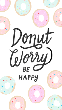 Donut worry be happy wallpaper