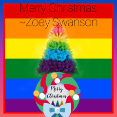 I am lesbian so that is why i made this Christmas pride thing