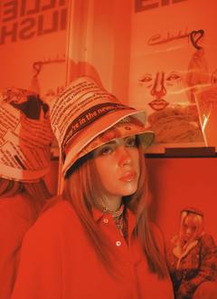 Billie Eilish Orange Aesthetic