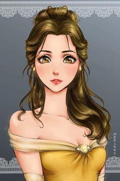 Diseny Princess As Anime