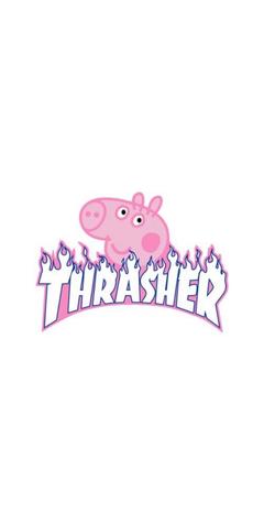 pepa pig THRASHER logo