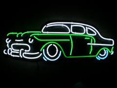 old neon car