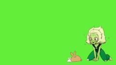 peridot cutie pie playing with bunnys