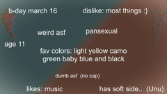 this is only some info about me just some UnU