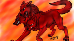 Red three headed dog s wallpapergate com