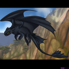 Toothless after he scared Hiccup
