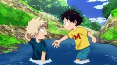 Aww Look at Deku helping Bakugo up So cute Squeee