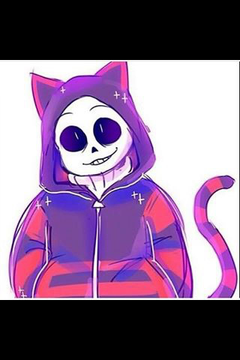 OMFG Sans is so cute as a neko Squeeee Mew