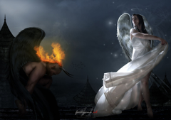 Angel VS Demon an edit from the first time I started my editing career
